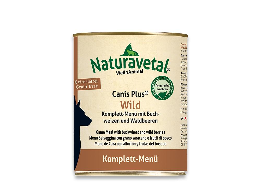 Naturavetal Canis Plus Wild Komplett-Menü