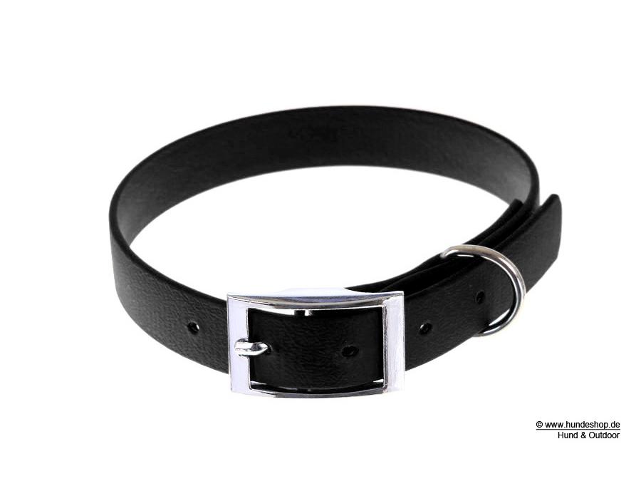 Relaxoo Biothane Hundehalsband schwarz 25mm breit