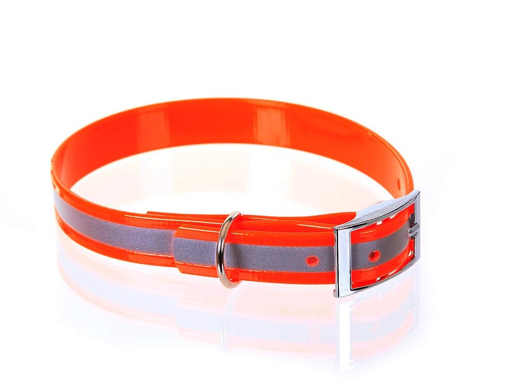 Relaxoo Biothane Reflex Hundehalsband orange 19mm breit
