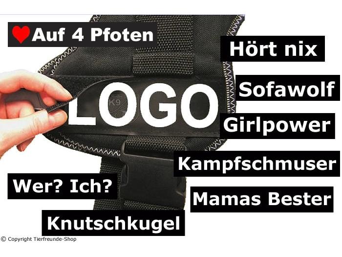 Logoset für K9 Hundegeschirr Gr.1 bis Gr.3
