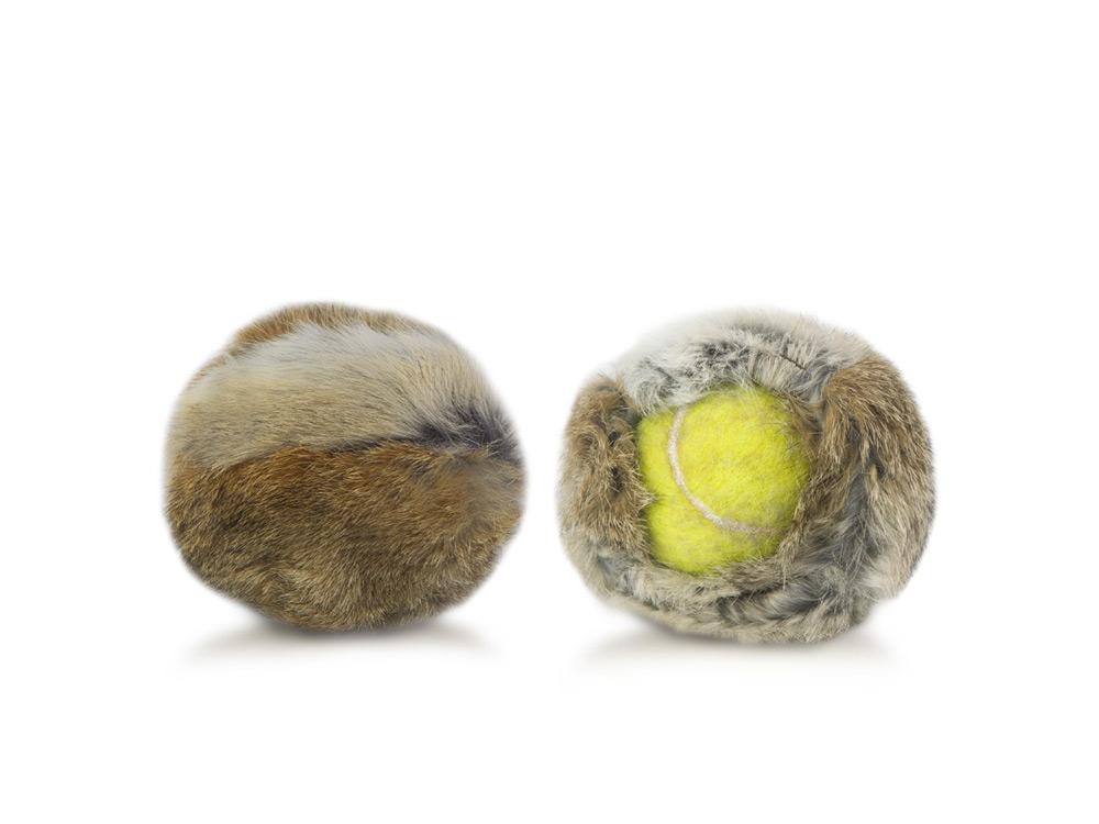 Firedog Kaninchenfellüberzug für Tennisball