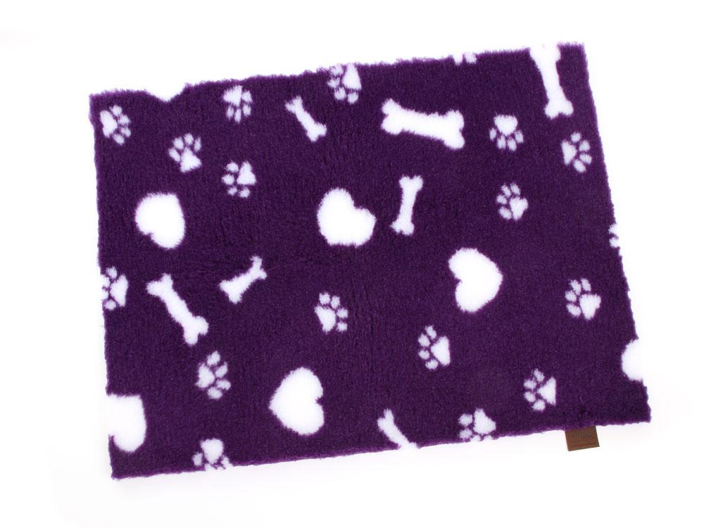 Original Vetbed™ Isobed SL purple Hearts, Paws & Bones 100 x 75 cm 100 x 75 cm