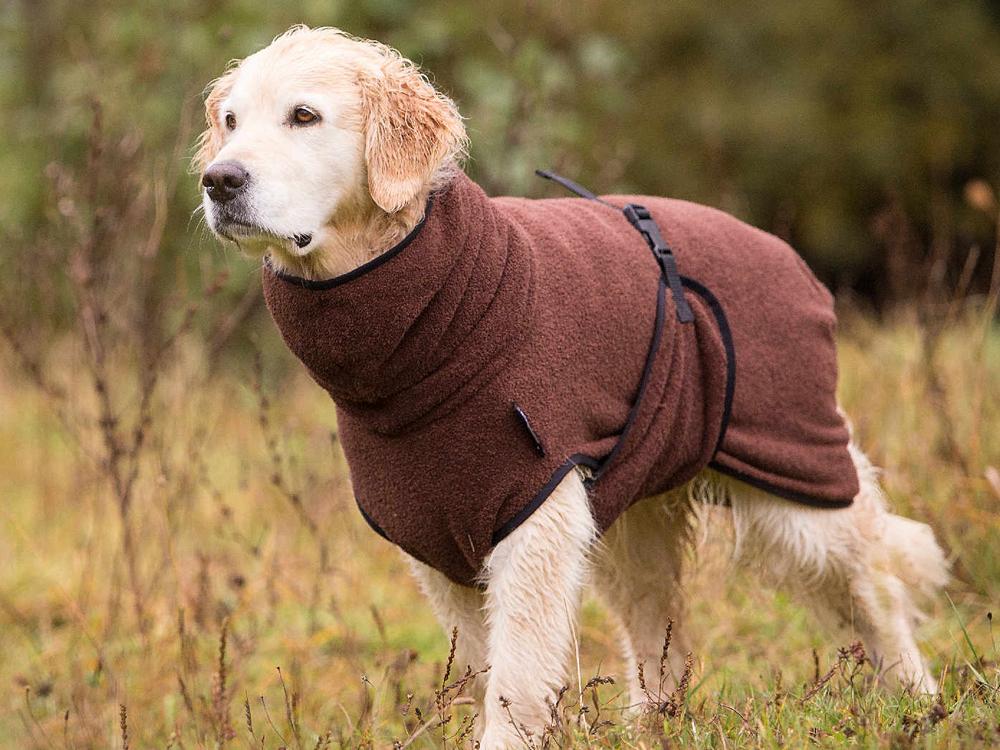 Dryup Cape Hundebademantel braun