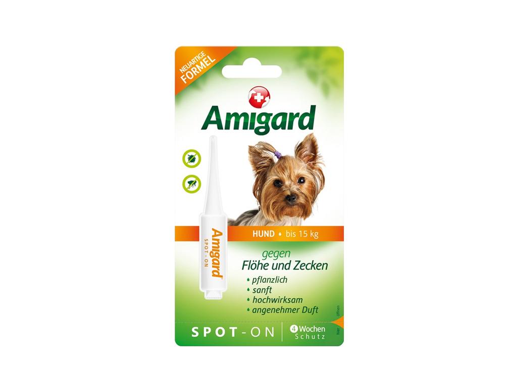 Amigard Spot-on gegen Zecken und Flöhe bis 15 kg Körpergewicht