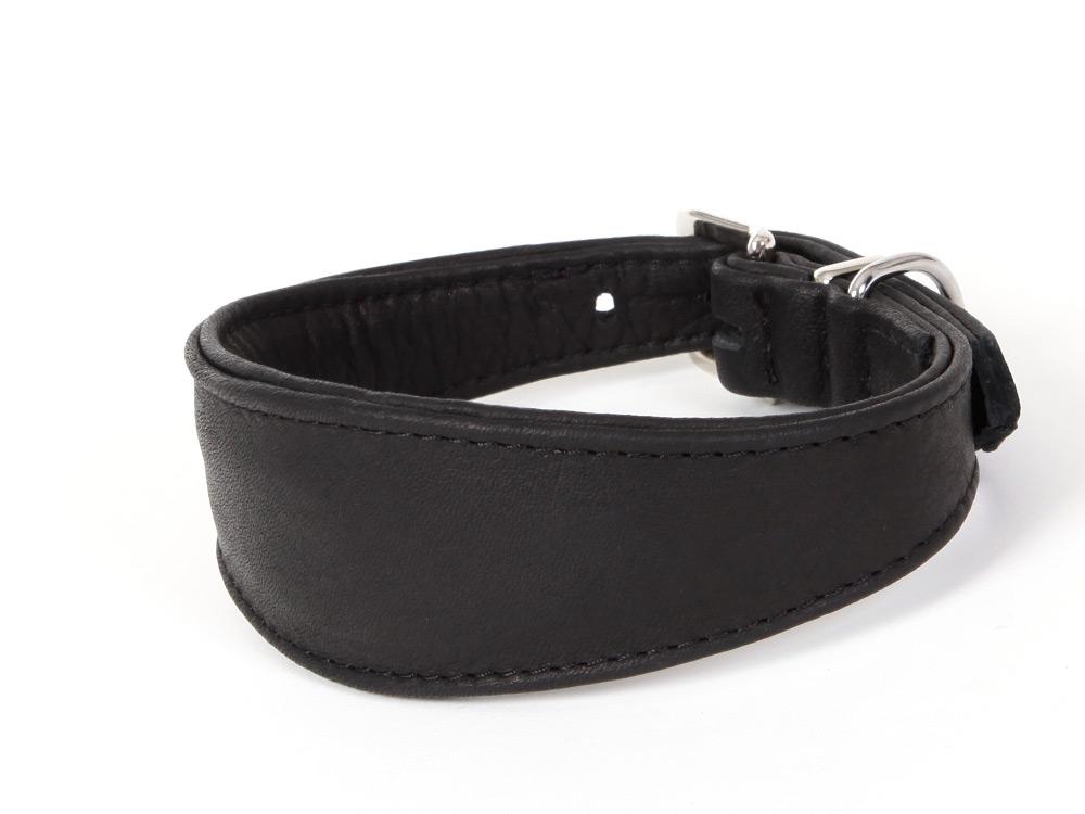 Windhunde Halsband Luxor Nappaleder schwarz