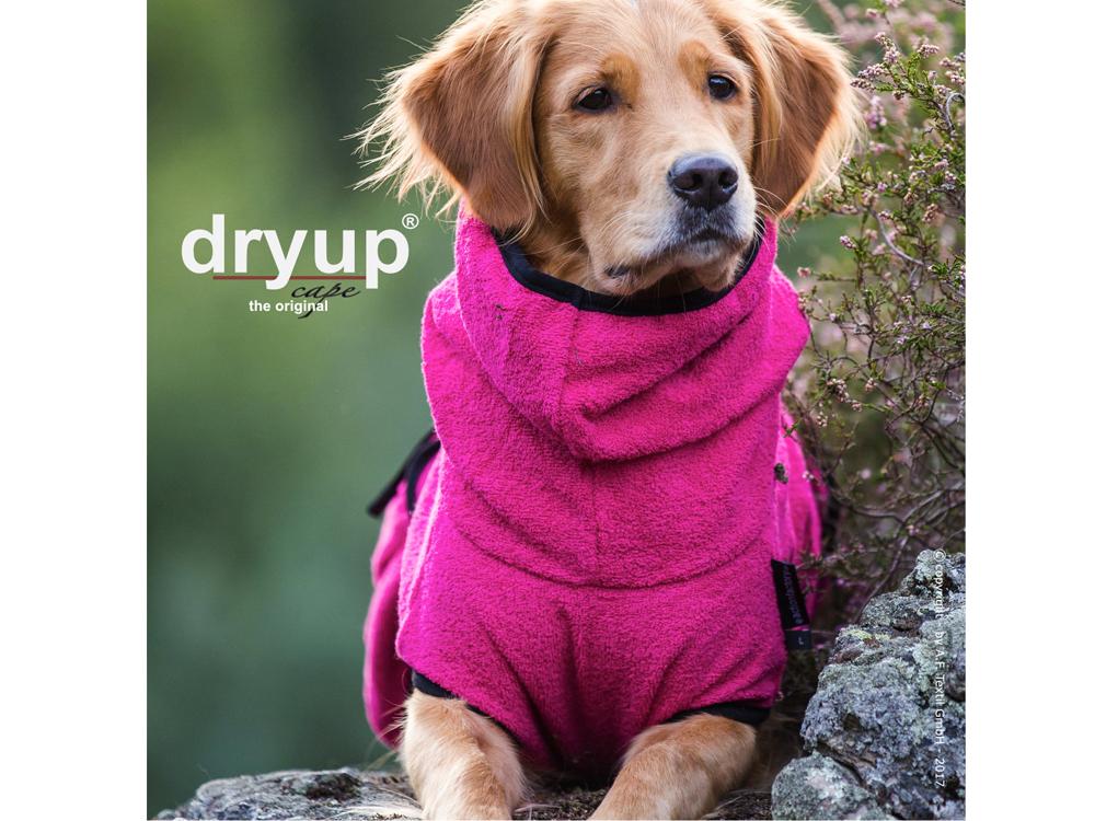 Dryup Cape Hundebademantel pink Sonderedition