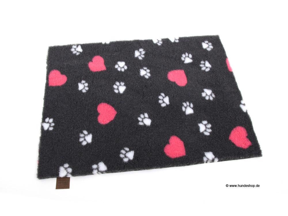 B-Ware: Original Vetbed™ Isobed SL anthrazit hearts & paws 75 x 50 cm
