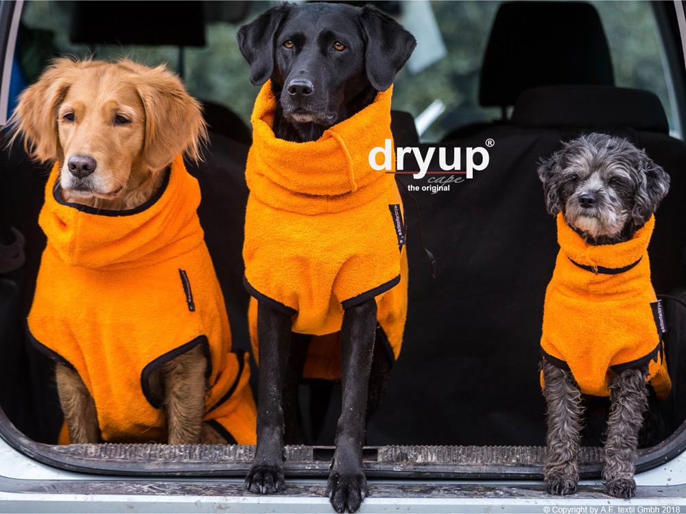 Dryup Cape Hundebademantel clementine