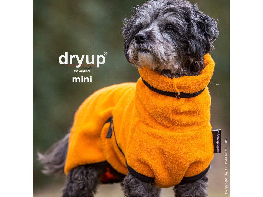 Dryup Cape Hundebademantel Mini clementine