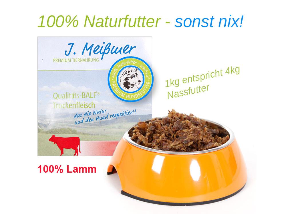 BALF Premium Trockenfleisch 100% Lamm 1kg