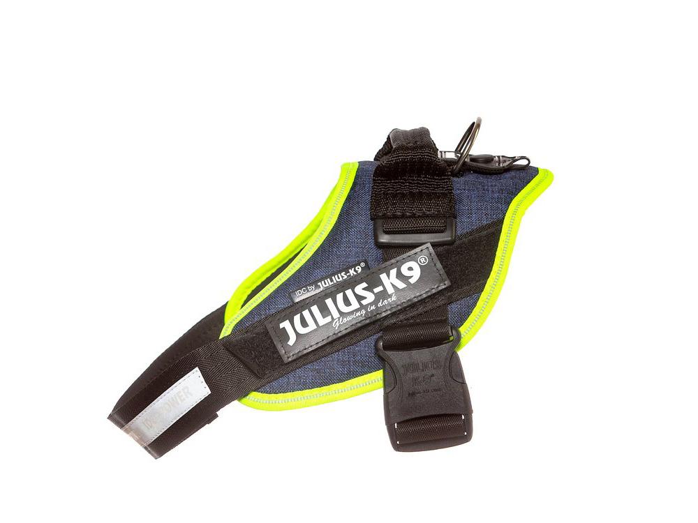 Julius K9 IDC Power Hundegeschirr Jeans Neon
