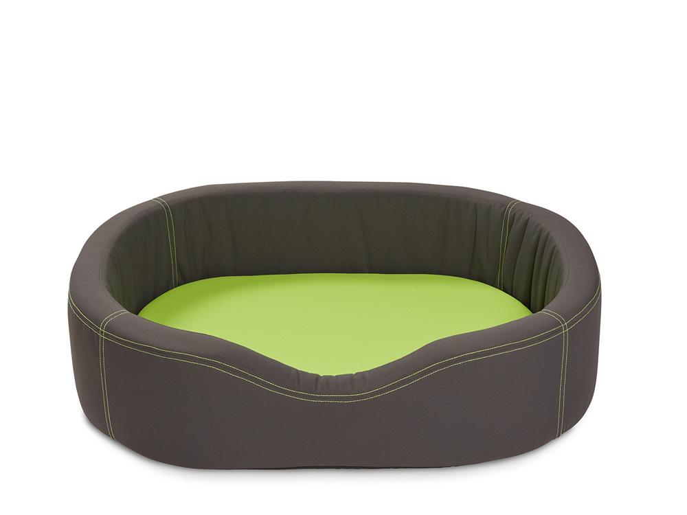 Wolters VIP Lounge Nylon grau/lime 120 x 91 cm 120 x 91 cm