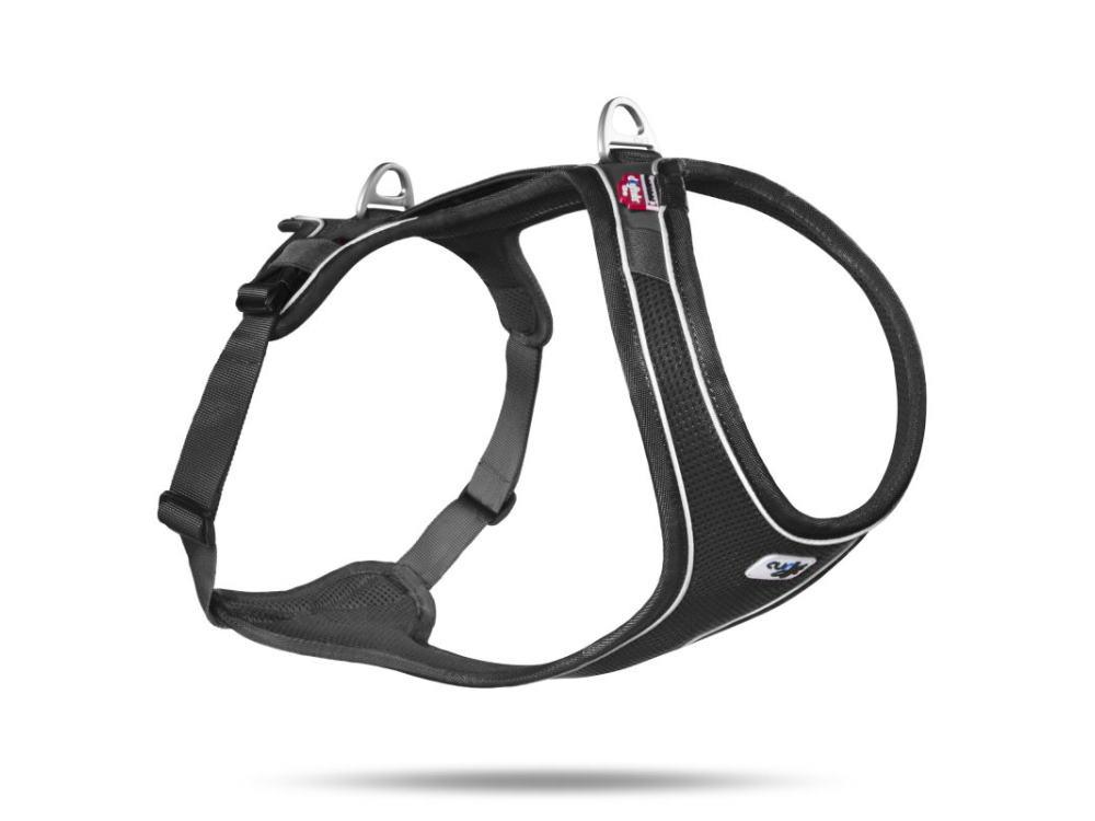 Curli Belka Comfort Air-Mesh Hundegeschirr schwarz