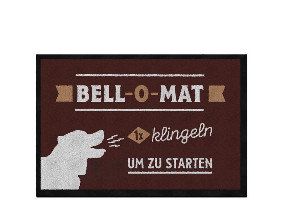 Pfotenschild Design Fußmatte Bell-O-Mat