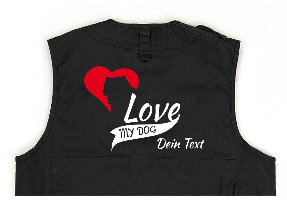 Akita Hundesport Weste schwarz My Dog Love