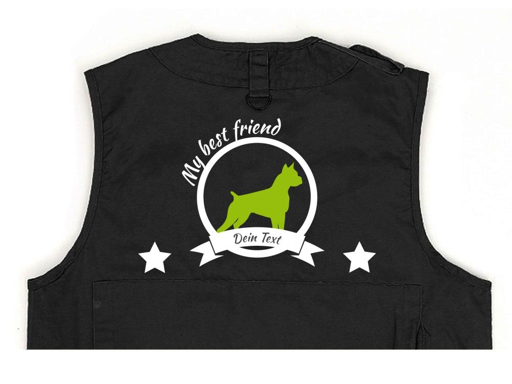 American Staffordshire Terrier Hundesport Weste schwarz Best Friend