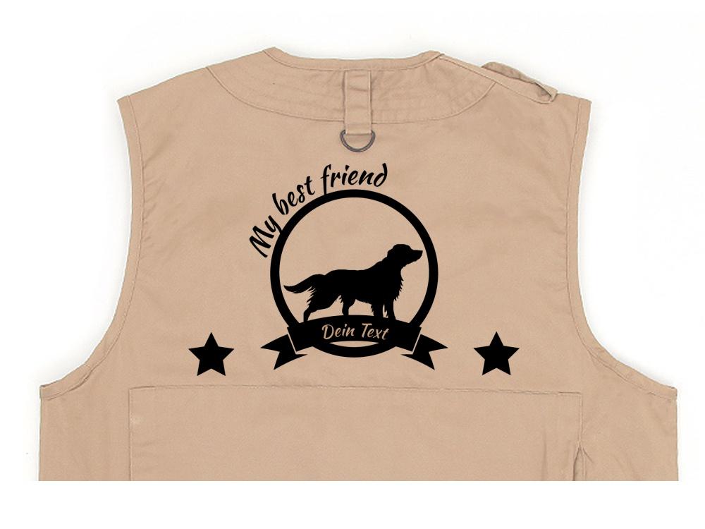 Australian Shepherd Hundesport Weste khaki Best Friend