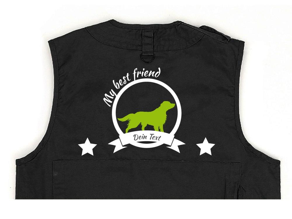 Australian Shepherd Hundesport Weste schwarz Best Friend