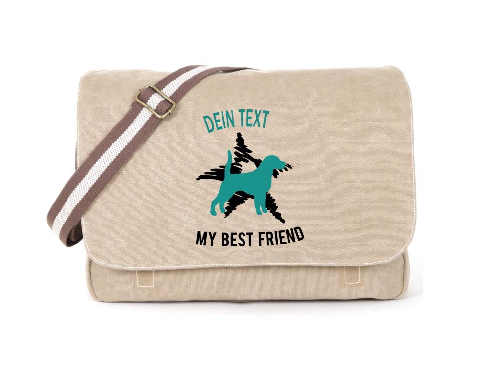 Beagle Canvas Tasche sahara Dog Star