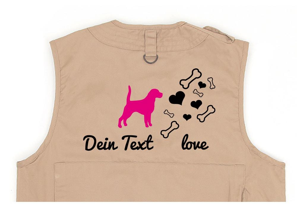 Beagle Hundesport Weste khaki Bones & Hearts