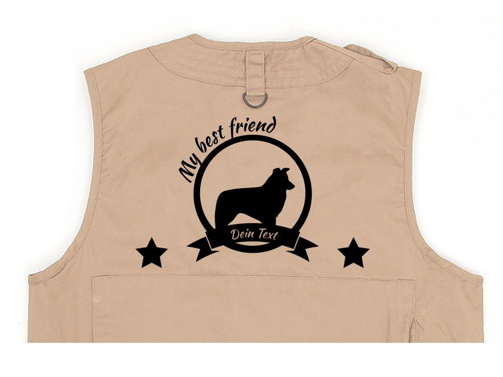 Border Collie Hundesport Weste khaki Best Friend