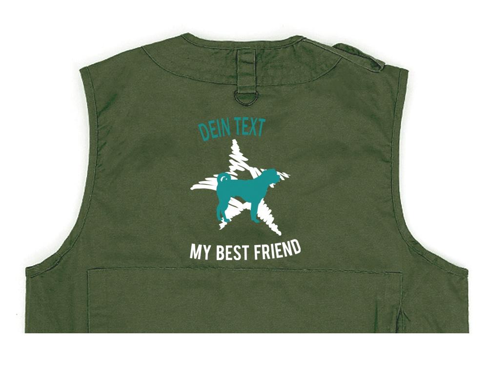Bullmastiff Hundesport Weste oliv Dog Star