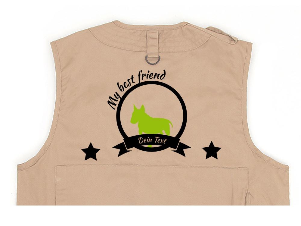 Bullterrier Hundesport Weste khaki Best Friend