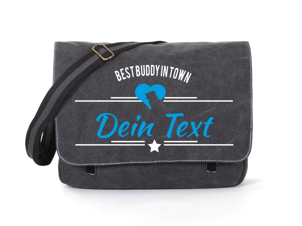 Cairn Terrier Canvas Tasche schwarz Best Buddy