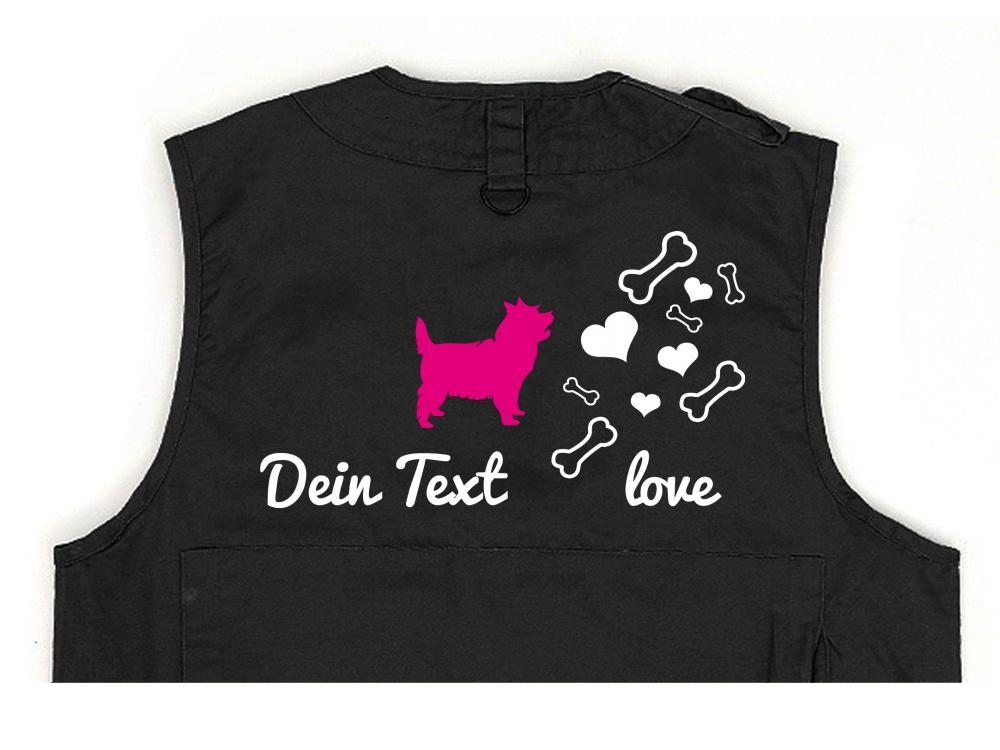 Cairn Terrier Hundesport Weste schwarz Bones & Hearts