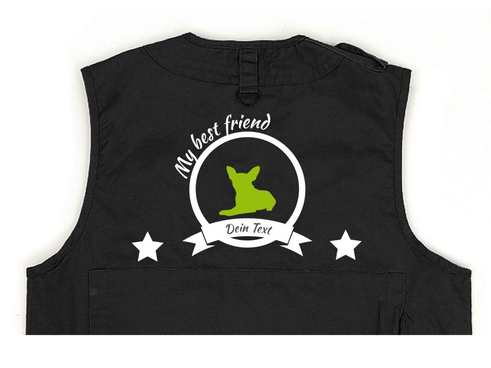 Chihuahua Hundesport Weste schwarz Best Friend
