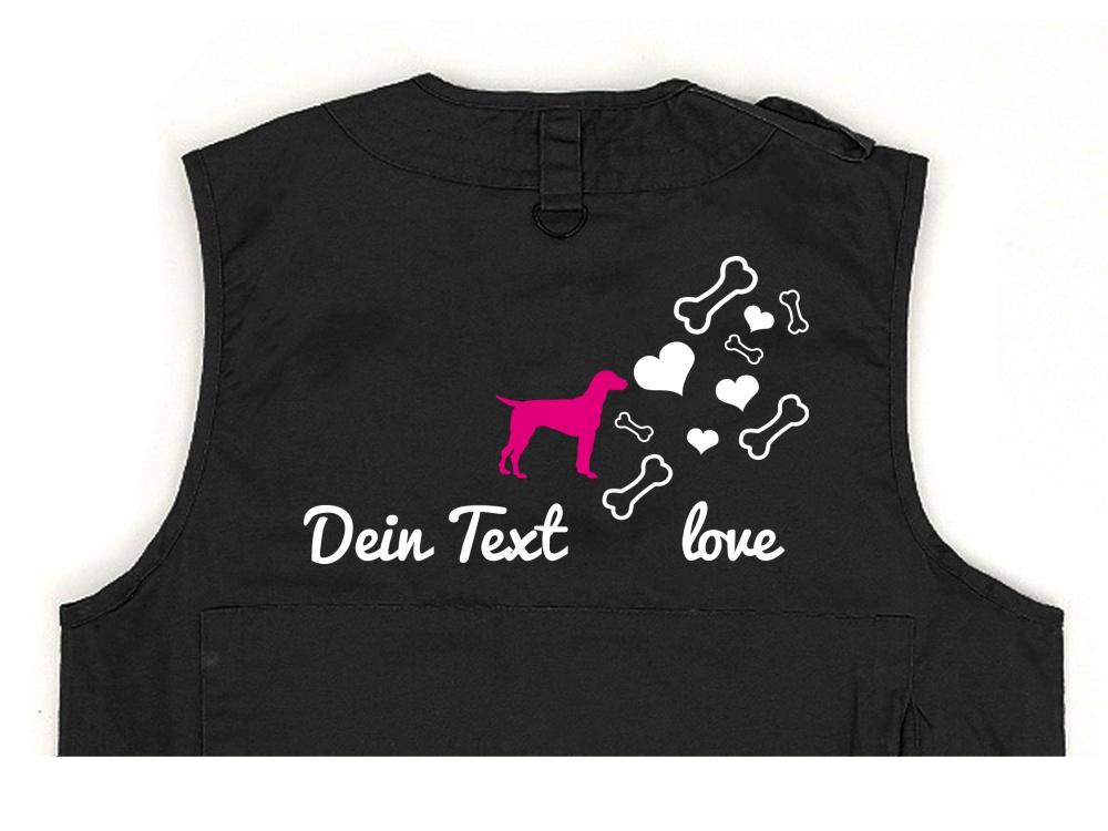 Dalmatiner Hundesport Weste schwarz Bones & Hearts