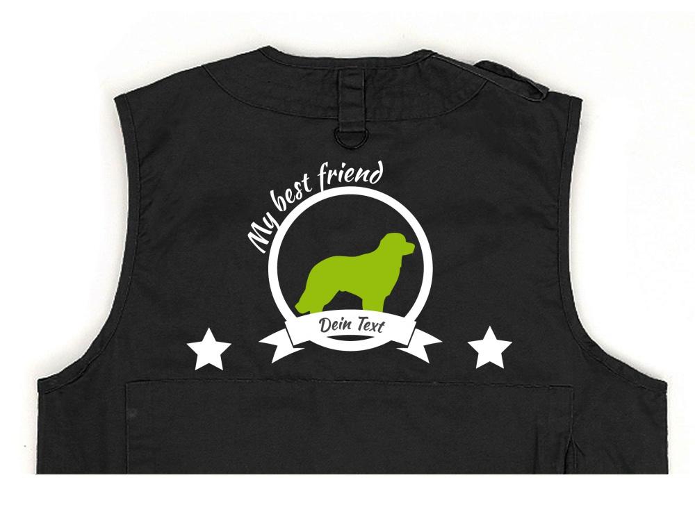 Hovawart Hundesport Weste schwarz Best Friend