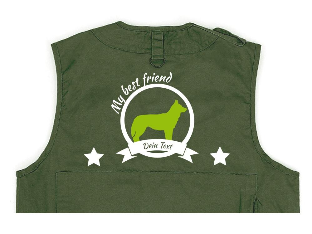 Husky Hundesport Weste oliv Best Friend