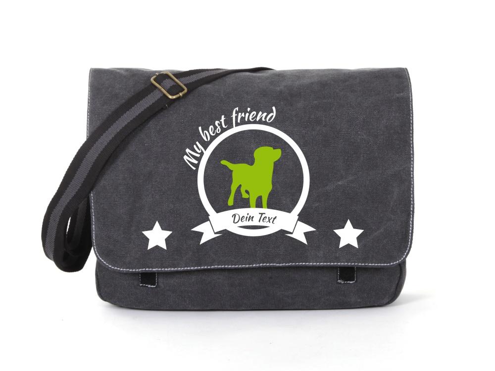 Labrador Canvas Tasche schwarz