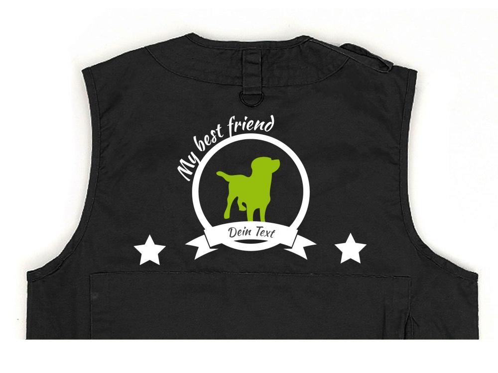 Labrador Hundesport Weste schwarz Best Friend