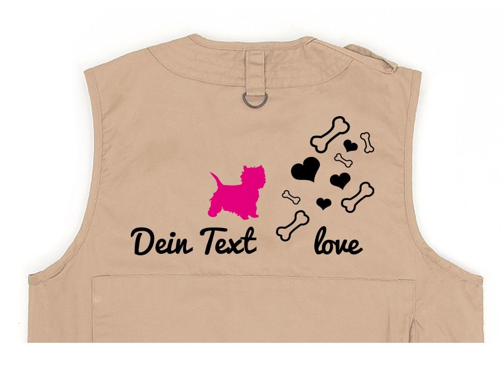 Malteser Hundesport Weste khaki Bones & Hearts