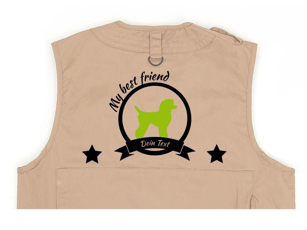 Pudel Hundesport Weste khaki Best Friend