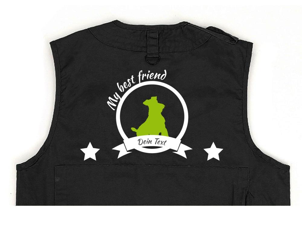 Schnauzer Hundesport Weste schwarz Best Friend