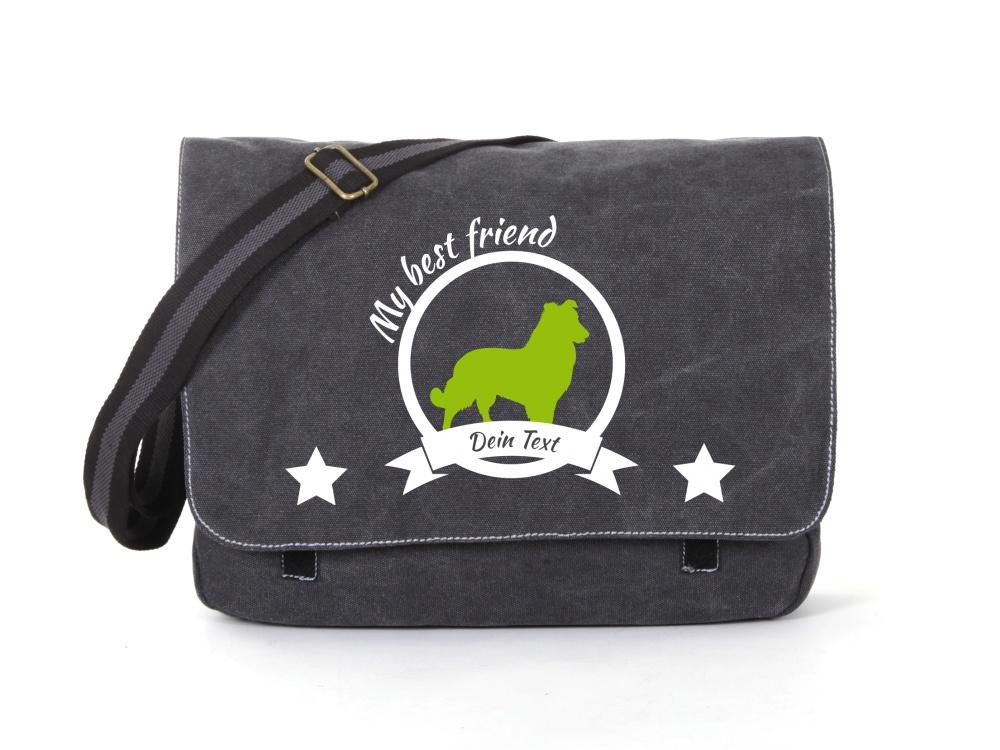 Sheepdog Canvas Tasche schwarz