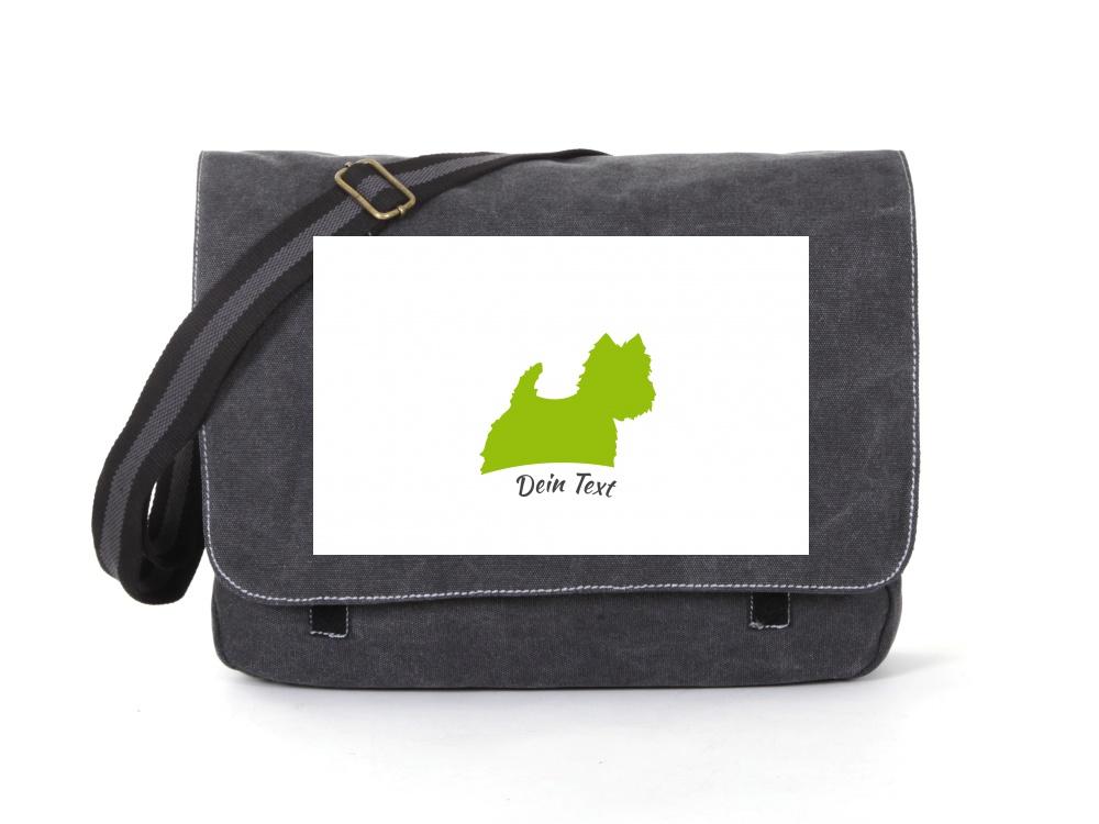 Westhigland Terrier Canvas Tasche schwarz