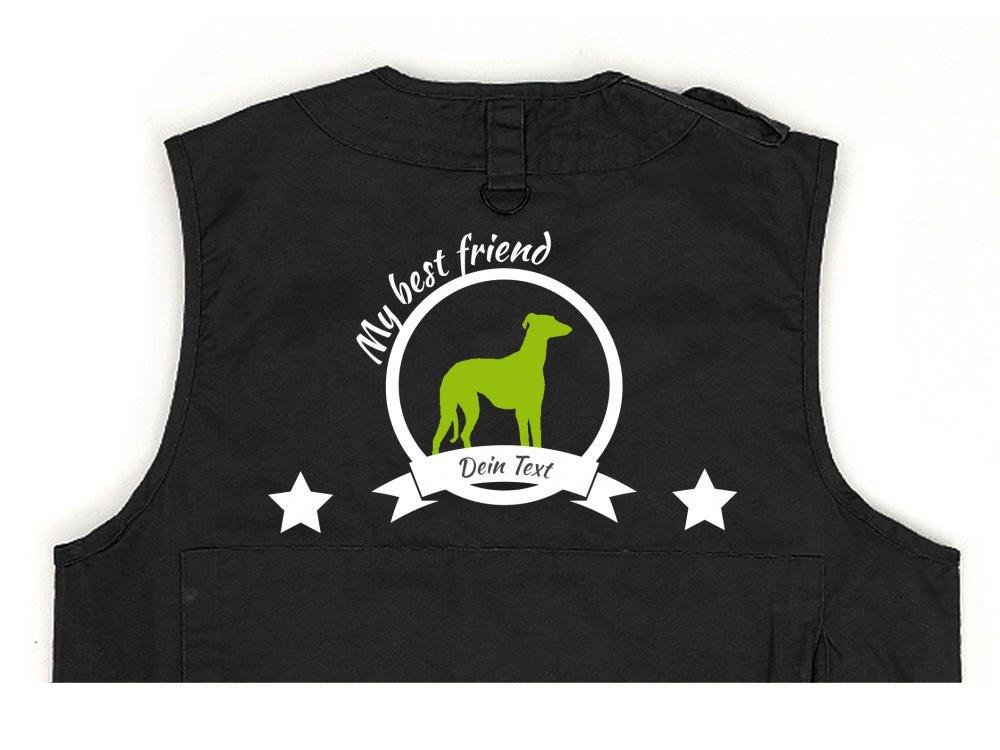 Whippet Hundesport Weste schwarz Best Friend
