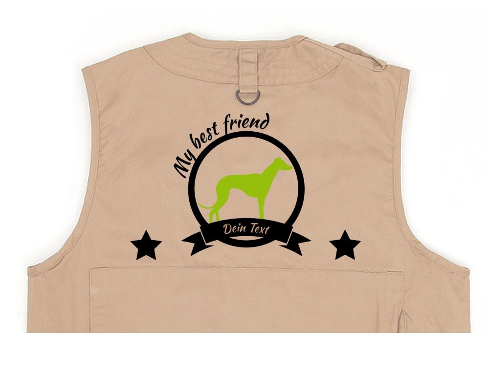 Windhund Hundesport Weste khaki Best Friend
