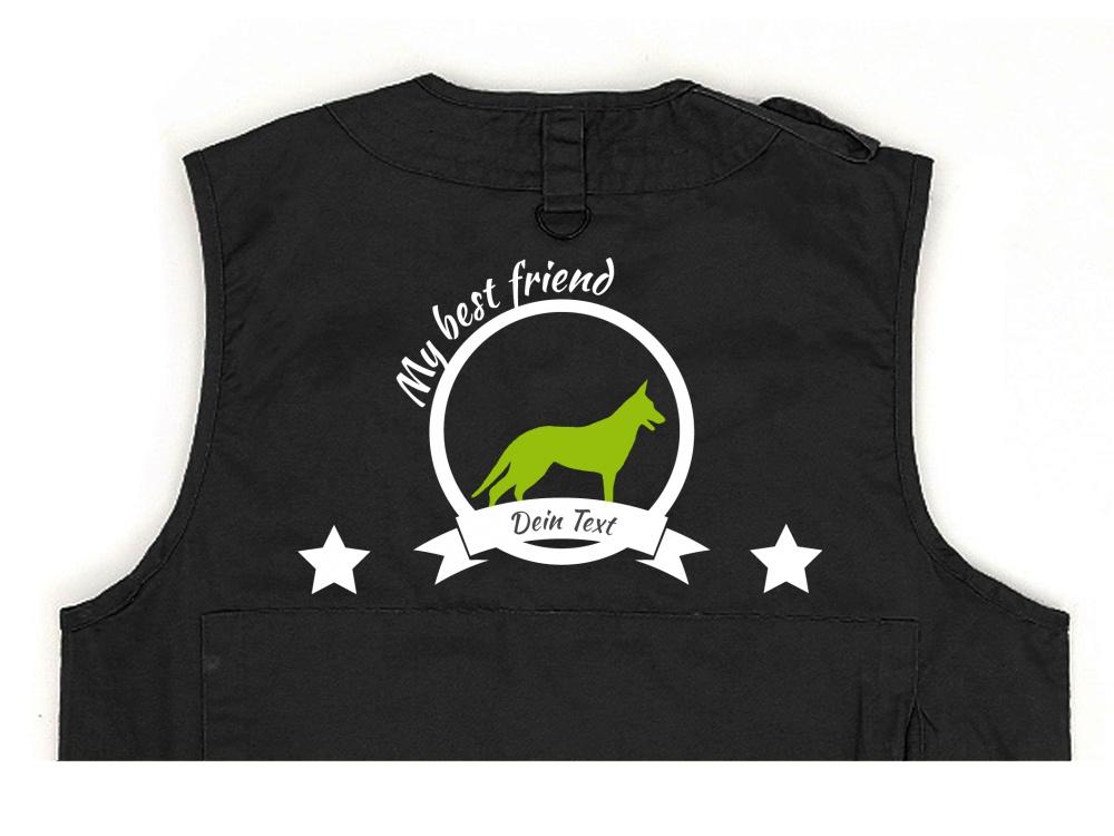 Wolfshund Hundesport Weste schwarz Best Friend