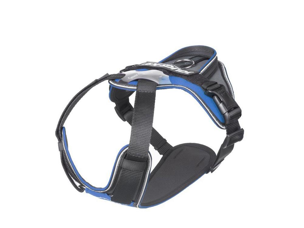 Julius K9® IDC® Longwalk Hundegeschirr blau/grau