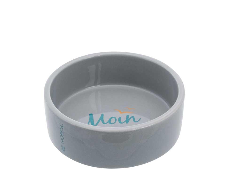 BE NORDIC Hundenapf Keramik grau