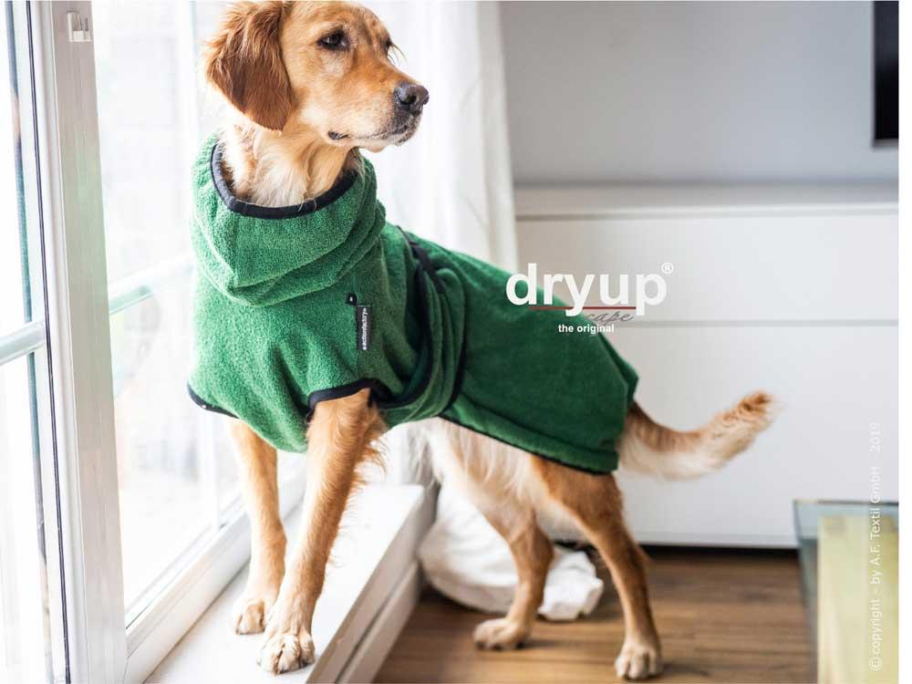Dryup Cape Hundebademantel dark green