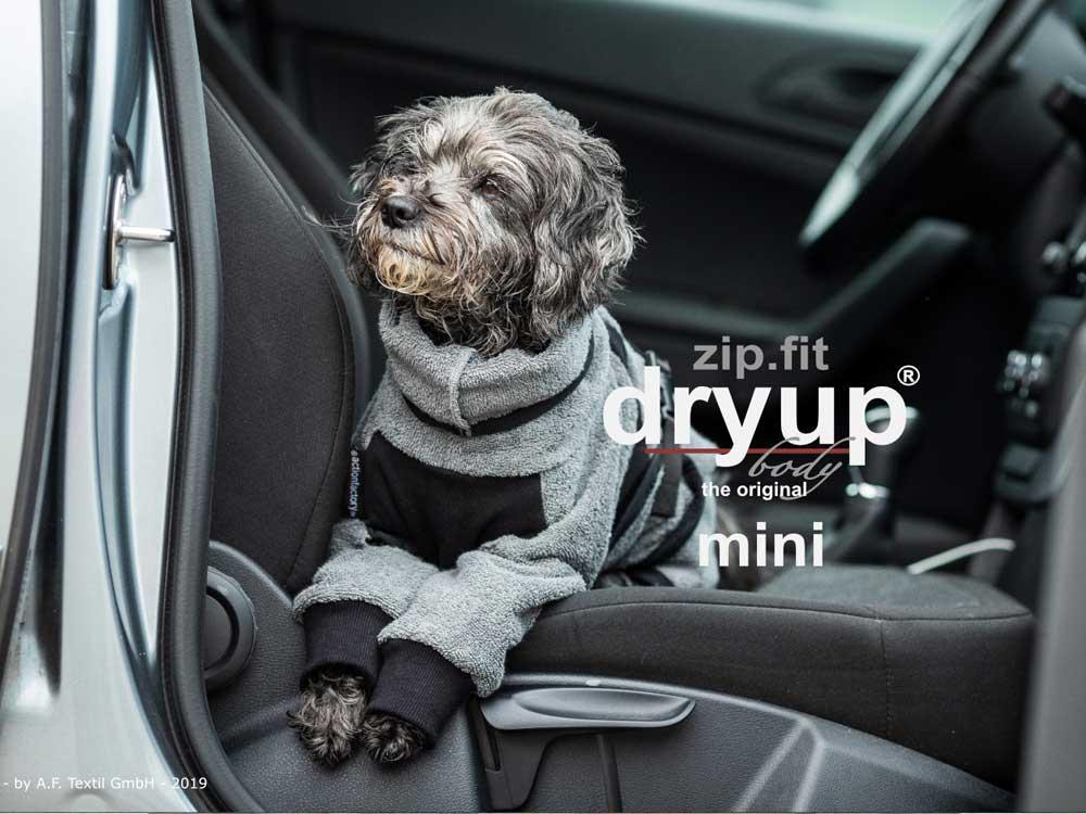 Dryup Body zip.fit Mini Hundebademantel anthrazit