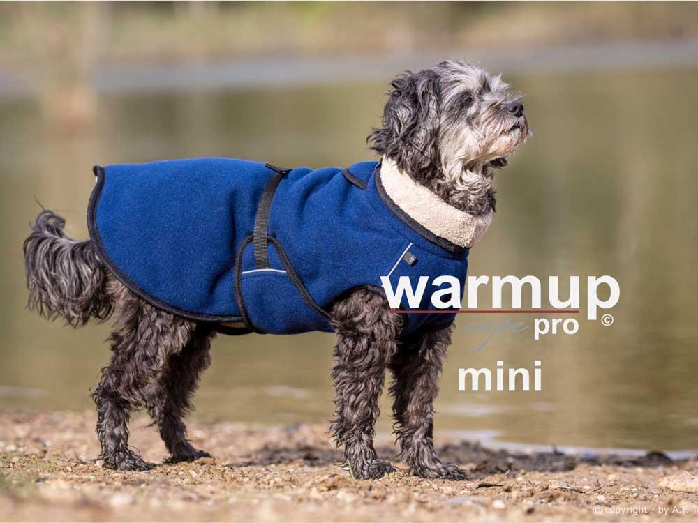Warmup Cape Pro Mini Hundemantel & Bademantel dunkelblau