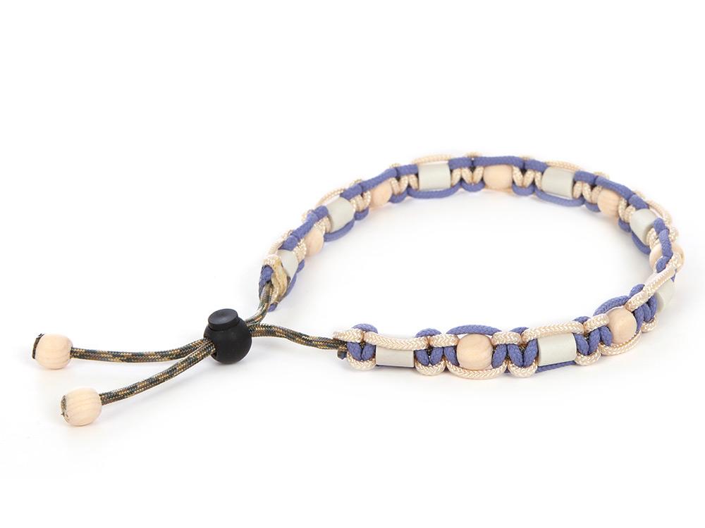 HundeNerd® GuteVibes EM-Halsband Zirbenholz Farbe Lavendel