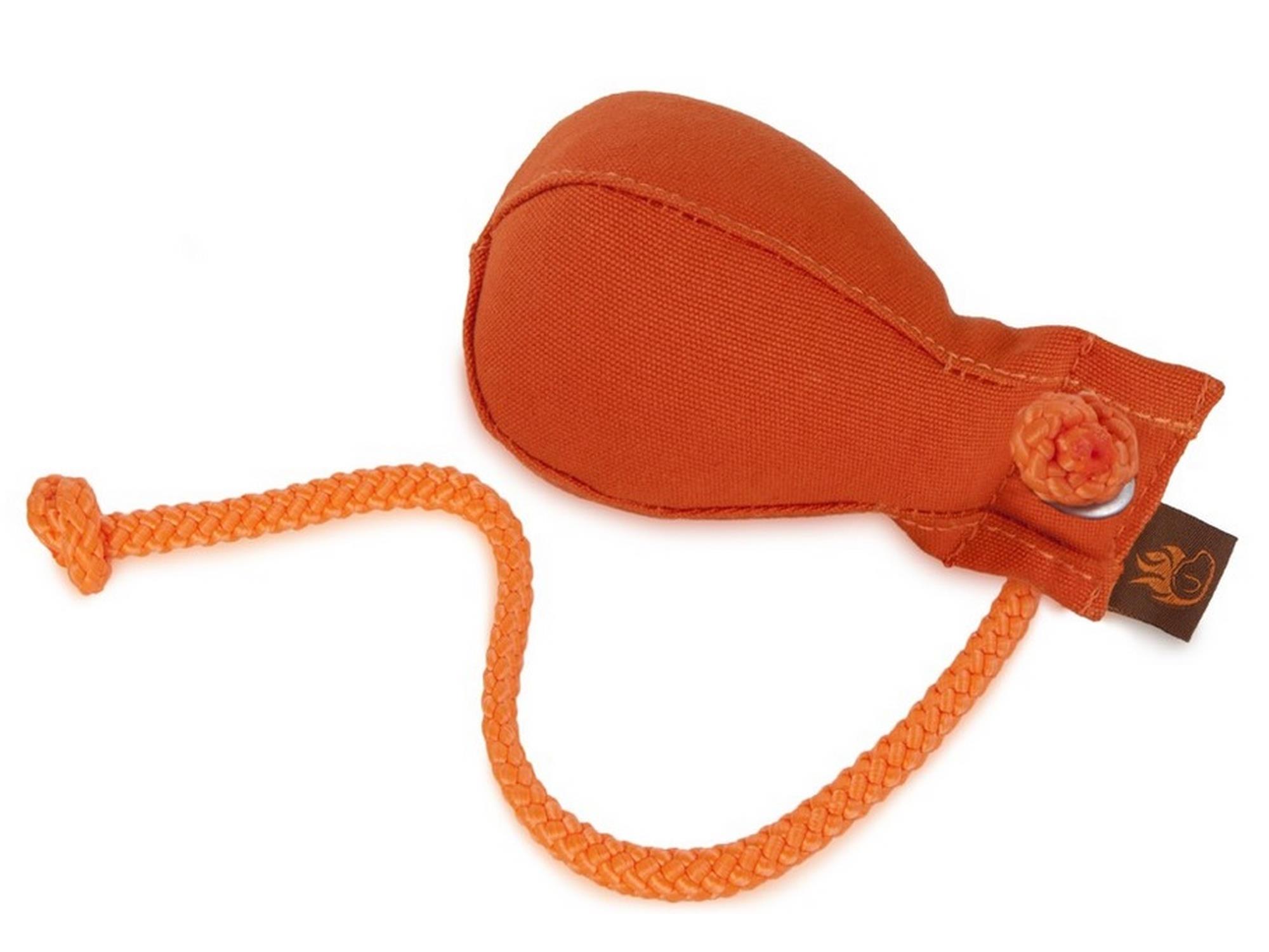 Firedog Dummy Ball Medium mit Wurfhilfe orange 150g